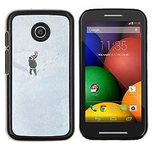 Stuss Case / Funda Carcasa protectora - Dibujo lindo de la muchacha del invierno - Motorola Moto E ( 1st Generation )