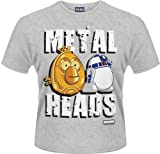 Plastichead Angry Birds Star Wars Metal Heads official men's Grey small t-shirt