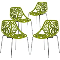 Poly and Bark Birds Nest Dining Side Chair in green (Set...