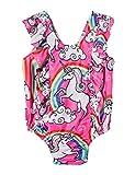 #6: Funnycokid Toddler Baby Girls Ruffle One-Piece Swimwear Swimsuit Bathing Suit
