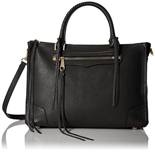 Rebecca Minkoff Regan Satchel Tote Shoulder Bag, Black, One Size by Rebecca Minkoff