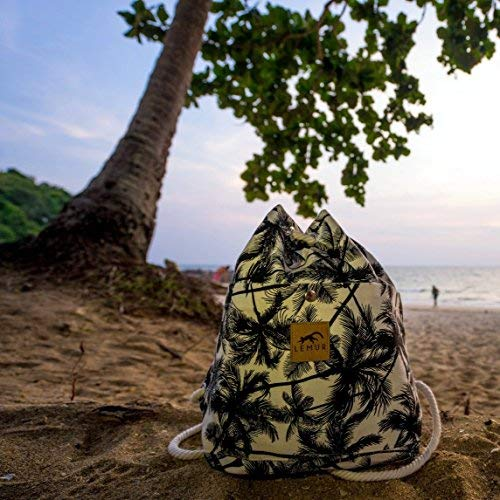 Lemur Bags Canvas Backpack Purse - Cute Eco-Friendly Drawstring Shoulder  Bucket Day Bag ( bb981805edf4d