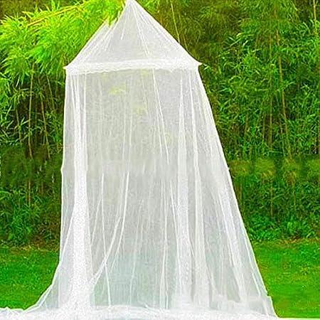 Guajave Lit Double Universel D/ôme Moustiquaire Protection Contre Moustiques Mouches Installation Facile Filet Rose