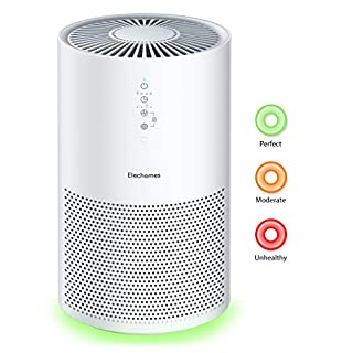Elechomes EPI236 Pro Series Air Purifier for Large Room with True HEPA Filter, Air Cleaner for Pets, Smokers, Pollen for Bedroom Home Office 280 ft², Smart Air Sensor, Auto Mode, Timer, White