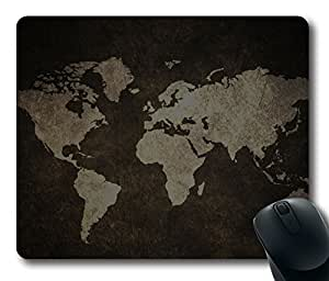 Stockvault World Grunge Map DIY Masterpiece Limited Design Oblong Mouse Pad by Cases & Mousepads by Maris's Diary