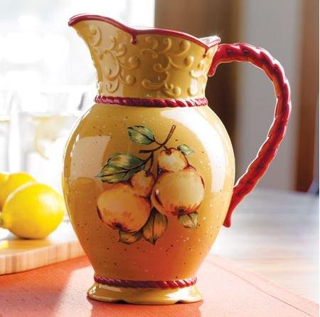 5425 - Princess House Ceramic Pitcher