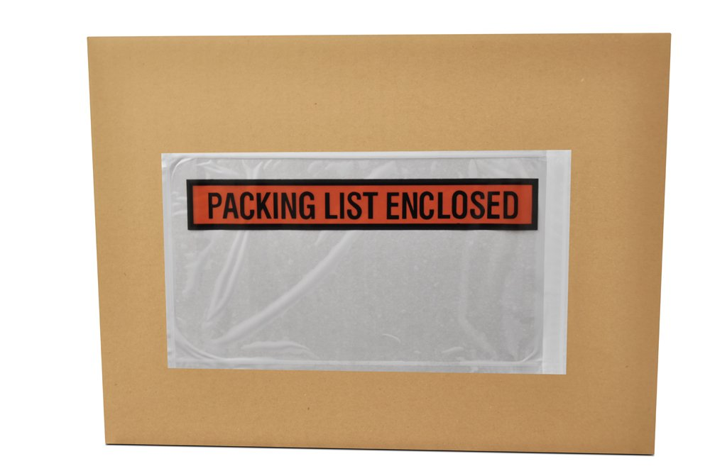 (1000) 5.5'' x 10'' Packing List Enclosed Envelopes Panel Face - Overstock Item