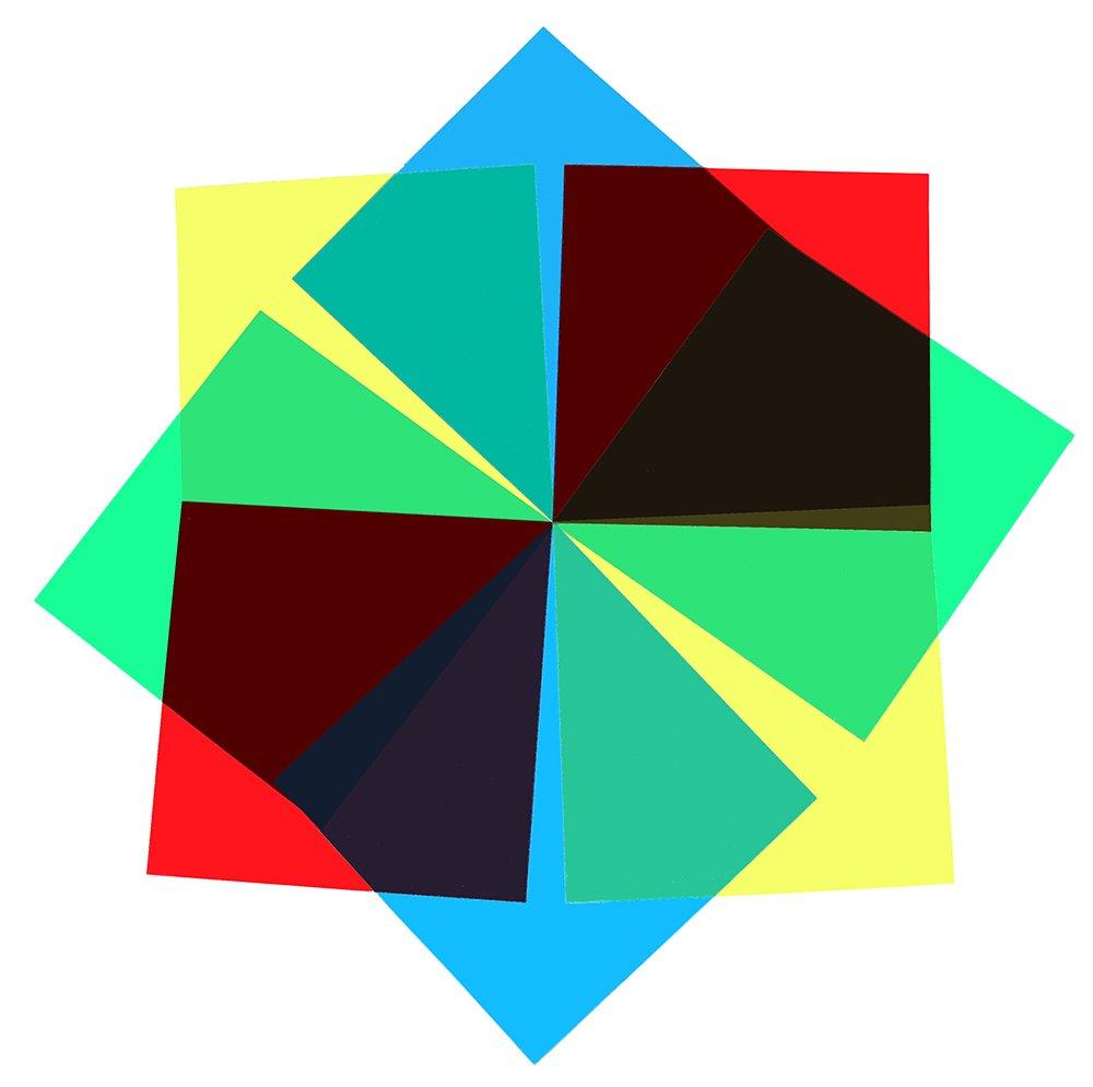 (Set of 8) Transparent Color Correction Light Gel Filter / Plastic Lighting Film sheet 12 x 12 inch, 4 Colors