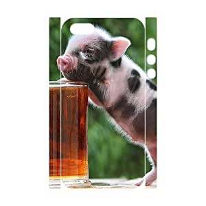ALICASE Diy Customized Case Little Pig 3D Case for iPhone 5,5S [Pattern-1]