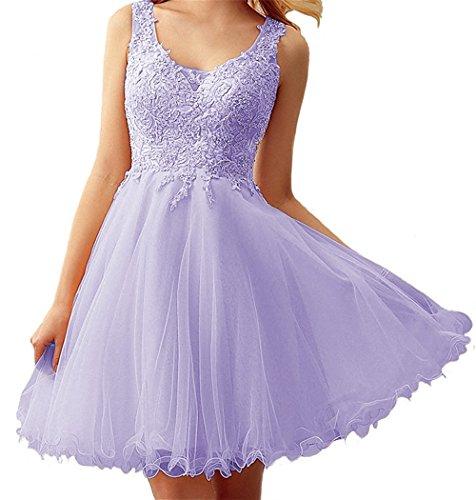 Trapèze Kurz Femme Lavendel Manche CarnivalpromRobe Sans K1FJlc