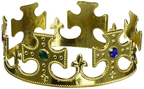 Forum Novelties Gold Plastic Prince Crown -