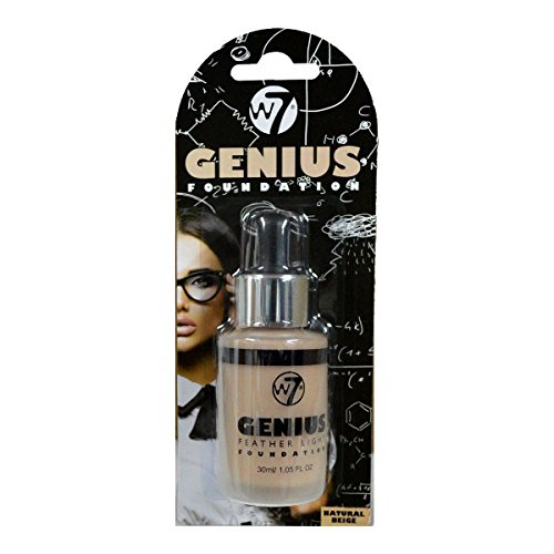 W7 Genius Super Smart Feather Light Make Up Foundation, Natural Beige, 30 ml