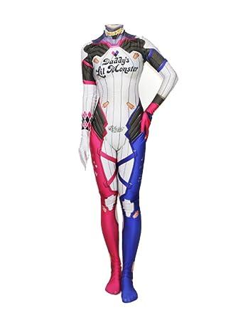 idea cosplay overwatch dva cosplay suit harley bodysuit halloween costume xsheight 59 in