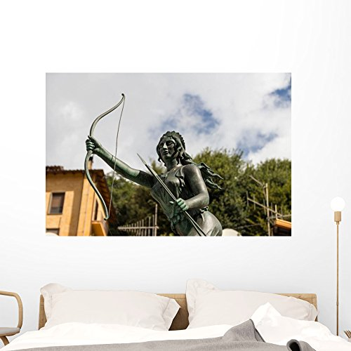 - Wallmonkeys Goddess Hunter Diana Fountain Wall Mural Peel and Stick Graphic (48 in W x 32 in H) WM361074