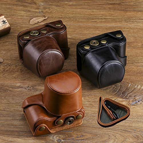 SaveStore Leather Camera Bag Camera Case Camera Bag Cover Pouch Shoulder Leather Strap (Brown Strap Tamrac)