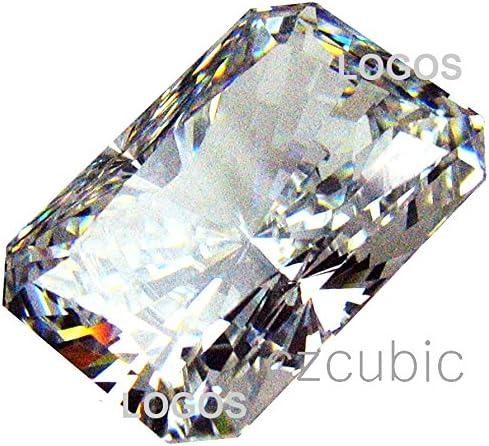 CZ//Cubic ZIRCOINA Super Premium QUALIYT Loose Stone Emerald Shape Radiant Cutting 7.0 X 5.0 MM to 18.0 X 13.0 MM Size LOT Lists 7 A//AAAAAAA Quality NOT 5 A//AAAAA Stones 7.0 X 5.0 MM