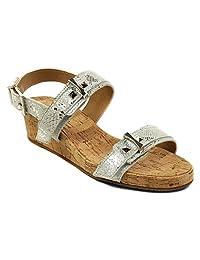 VANELi Women's Kami White Cabry/Silver sandals 7.5 N