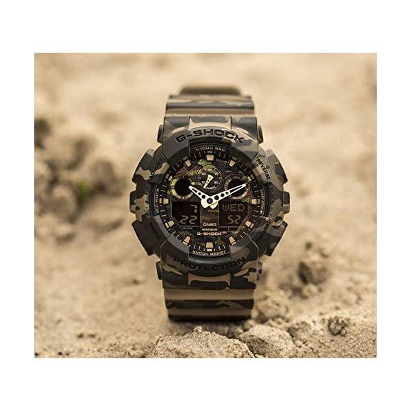 Casio Reloj Analógico para Hombre de Cuarzo con Correa en Resina GA-100CM-5AER 6