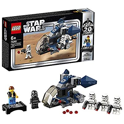 LEGO 75262 Star Wars Imperial Dropship-20th Anniversary Edition Set, Microfighter with Bonus Han Solo Minifigure, Colourful: LEGO: Toys & Games