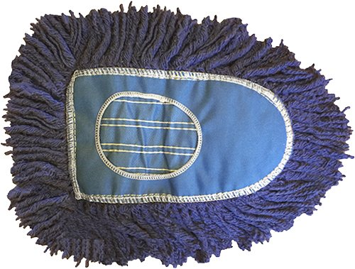 (Triangle Dust Mop Heads-6 Pack-Blue)