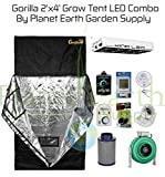 Gorilla Grow Tent (2′ x 4′) LED Combo Package #1 For Sale