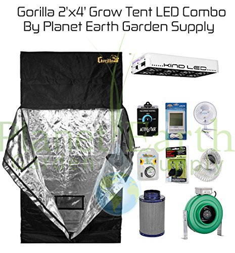 $1,399.99 indoor grow tent setup Gorilla Grow Tent (2′ x 4′) LED Combo Package #1 2019