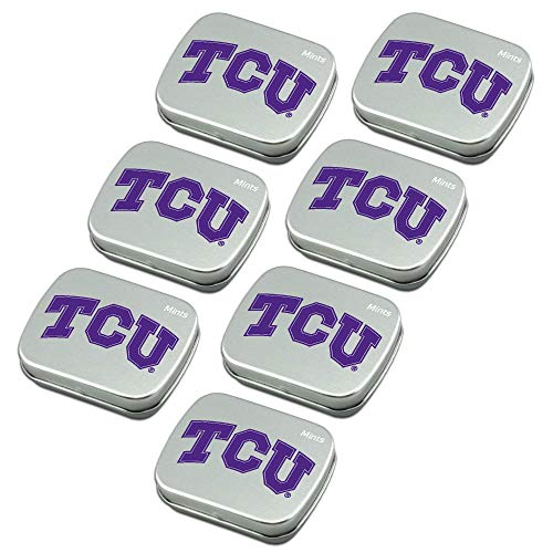 Worthy Promo NCAA Texas Christian Horned Frogs Party Favors Sugar-Free Peppermint Candy Mint Tins