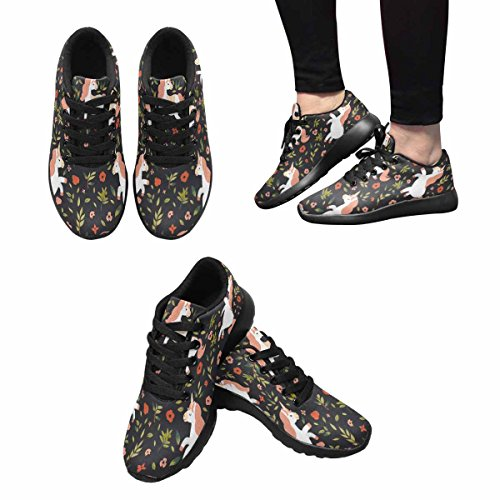 InterestPrint Womens Jogging Running Sneaker Lightweight Go Easy Walking Comfort Sports Running Shoes Multi 12 tSZw7G8p12