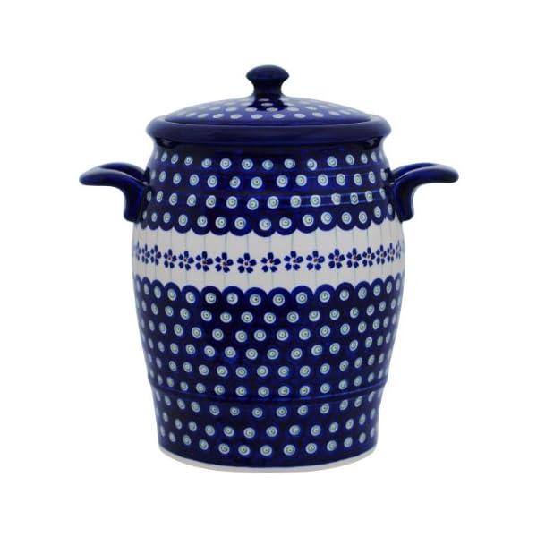 Original Boleslawiec Rum Pot 4,2 Litre – Bunzlauer Multi-Purpose Ceramic Pot Decor 166a