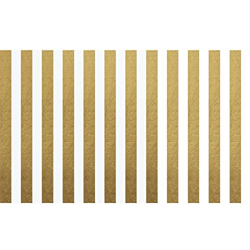 (Shappy Stripes Tissue Paper Stripes Wrapping Paper, 28 Inch by 20 Inch, 30 Sheets (Gold and White) )