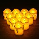 Shanglite 24pcs LED Battery Powered Candle Flame Flashing Tea Light Electronic LED Candle Light Home Wedding Party Decoration