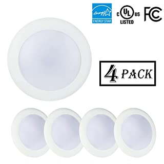 5/6 Inch Flush Mount Disk LED Downlight, LED Recessed Retrofit Ceiling Fixture 15W 4000K Cool White