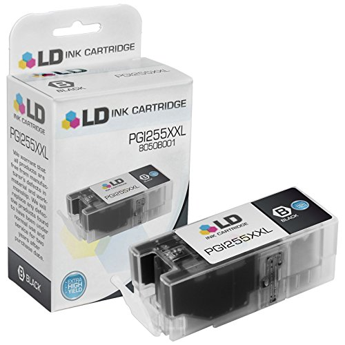 LD © Compatible Replacement for Canon 8050B001 (PGI-255XXL) Extra High Yield Black Inkjet Cartridge for use in Canon PIXMA iX6820, MX722, and MX922 Printers