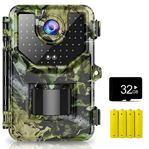 1080P 16MP Trail Camera, Hunting Camera with 120°Wide-Angle Motion Latest Sensor View 0.2s Trigger Time Trail Game…