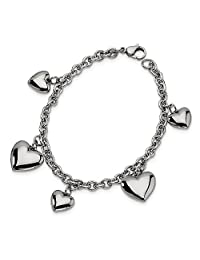 Stainless Steel Hearts 8 Inch Bracelet/Love Fashion Jewelry Gifts for Women for Her