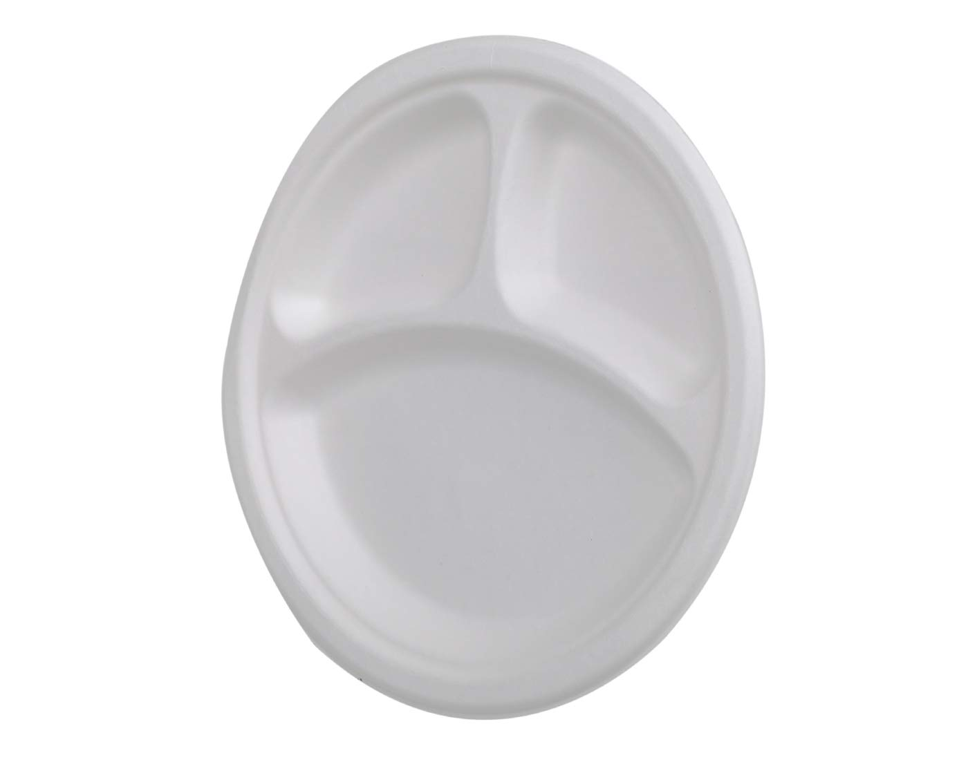 Buy ECORITI 10-inch Round 3 CP Disposable Biodegradable Sugarcane Bagasse Plate (White)- Pack of 25 Online at Low Prices in India - Amazon.in
