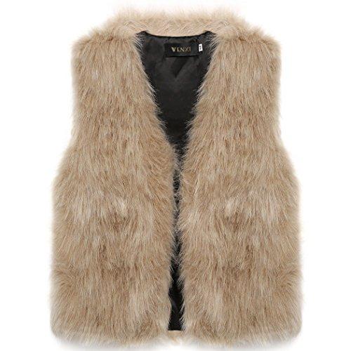 D'hiver Manche Veste Parka Femme Fourrure Manteau Pardessus 4 Chaud Mode 2016 Camel Sans Fausse Gilet En Cravog Outwear pwFHIqq