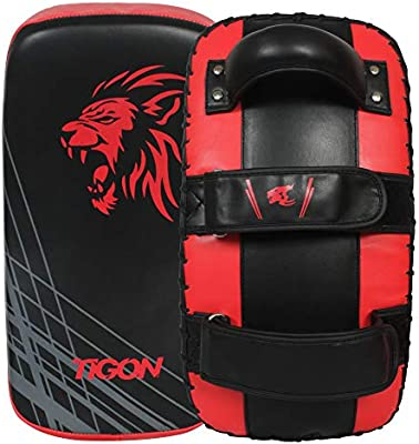 Muay Thai Kick Boxing Arm Pad MMA Focus Punch Curved Strike Shield