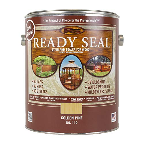 Ready Seal 110 1-Gallon Can Golden Pine Exterior Wood Stain and Sealer (Wood Paint Pine)