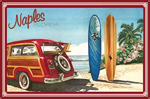 Naples FL Metal Art Print by Evelyn Jenkins Drew (24