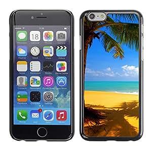 "For Iphone 6/6S (4.7 INCH) , S-type Playa Amarillo"" - Arte & diseño plástico duro Fundas Cover Cubre Hard Case Cover"