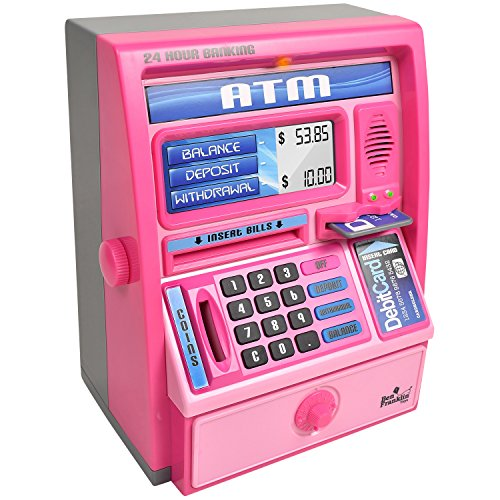 (Ben Franklin Toys Kids Talking ATM Machine Savings Bank with Digital Screen and Electronic Calculator for Kids,)