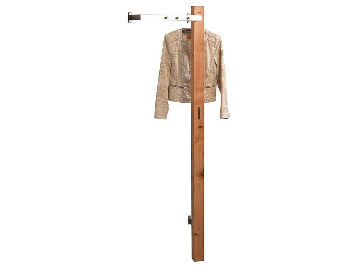 Wandgarderobe Flurgarderobe Garderobe Massivholz Garderobenleiste 'Gusmu V'