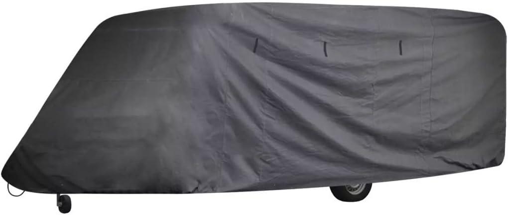 Vislone Housse de Protection pour Caravane Bache Voiture Couverture 610 x 230 x 220 cm Gris