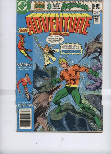 Adventure Comics #476 (The Poseidon Adventure! Starring Aquaman, Starman and Plastic Man, Vol. 46, No. 476, October 1980)