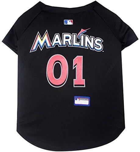 Pets First MLB Miami Marlins Dog Jersey, Medium