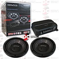Kenwood P-W1221 Car audio Package includes KAC-5207 2-channel amplifier and Two KFC-W112S 12 subwoofers