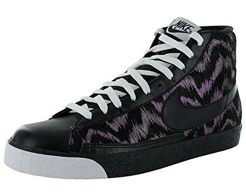 Pink Blazers Nike (Nike Women's Blazer High Black/Black-white vivid pink US 12 M)
