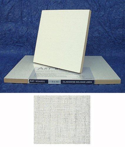 Linen Covered Art Panel (Fiber board) 9x12 Inch by 3D Board Art