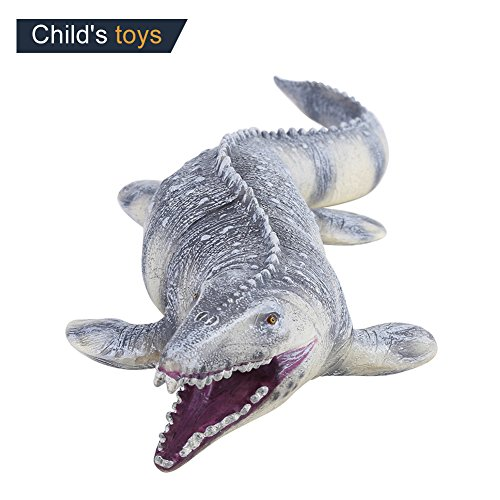 17.7Inch Long Realistic Looking Mosasaurus Dinosaur Toy Animal Model Figures for Kids Toddler Great Gift Party Favor by Fdit